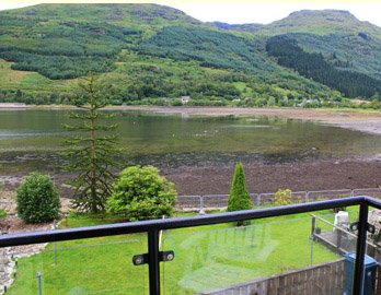 self-catering apartment overlooking Loch Long, to let